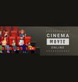 cinema movie online banner vector image