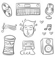 collection stock musical element doodles vector image vector image