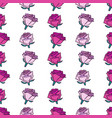 color roses seamless pattern vector image vector image