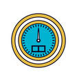 color sections silhouette of water meter closeup vector image vector image