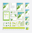 corporate identity design template with green vector image