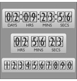 Countdown clock timer vector image