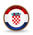 Croatia Seal vector image vector image