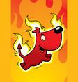 devil dog vector image vector image