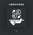 eurosterling - foreign currency exchange icon vector image