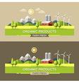 Farm fresh Organic products vector image vector image