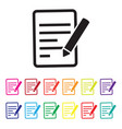 feedback report icon set vector image