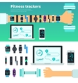 Fitness Trackers Virtual Coach Gadgets vector image vector image