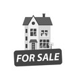 for sale sign with house in flat style vector image vector image