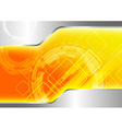 Futuristic computer background vector image