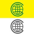 G globe letter logo vector image vector image