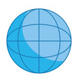 globe isolated icon vector image vector image