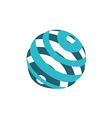 globe sphere orbit communication logo vector image vector image