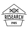 gmo free research logo simple black style vector image vector image