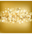 Gold Background With Ribbon vector image