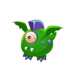 Green Fantastic Friendly Pet Dragon With One Eye vector image vector image