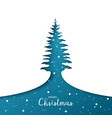 greeting card christmas tree paper art vector image vector image