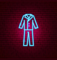 groom suit neon sign vector image vector image