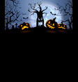 halloween silhouette background vector image vector image