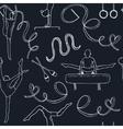 Hand drawn doodle gymnastics Seamless Pattern vector image vector image