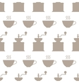 Hand grinders and coffee cups seamless pattern vector image vector image