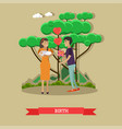 happy family with newborn vector image vector image