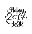 Happy New Year 2017 Calligraphy Greeting Card vector image