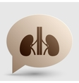 Human kidneys sign Brown gradient icon on bubble vector image vector image