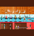 inside gym scene vector image