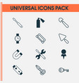 instrument icons set collection of putty vector image vector image