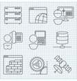 Interenet and telecommunication service icons set vector image