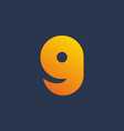 letter g number 9 smile logo icon design template vector image vector image