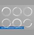 light circle shine effect on transparent vector image