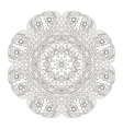 mandala round floral ornament doodle drawing hand vector image