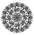 monochrome polish folk art pattern in circle vector image vector image