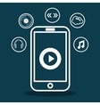 Music online design Media icon Flat vector image