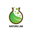 nature lab logo design template vector image vector image