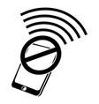 no wifi smartphone icon simple black style vector image vector image