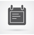 notes icon vector image vector image