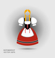 octoberfest german girl in traditional clothes vector image