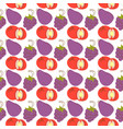 pattern background with fruit elements tomato vector image