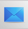 postal blue envelope is in a realistic style vector image vector image