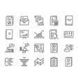 report icons set vector image vector image