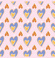 seamless pattern love print decorative pattern vector image vector image
