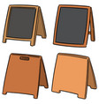 set of sandwich board vector image