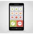 Smart phone with flat icons vector image vector image