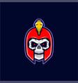 spartan skull head vector image
