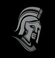 spartan warrior head metallic icon vector image vector image