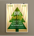 stylish template flyer design for christmas party vector image vector image