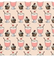 Sweet cupcakes and milkshakes background vector image vector image